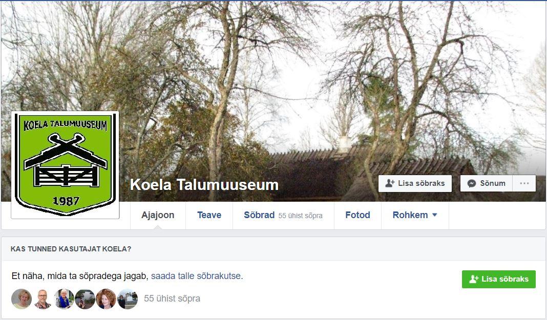 Koela Talumuuseum Facebookis